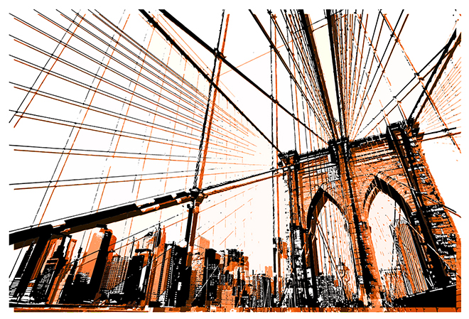 Brooklyn Bridge Cyan Saturation