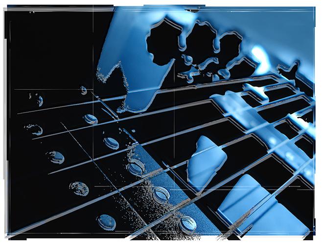 Guitar Sepia Tone Blue
