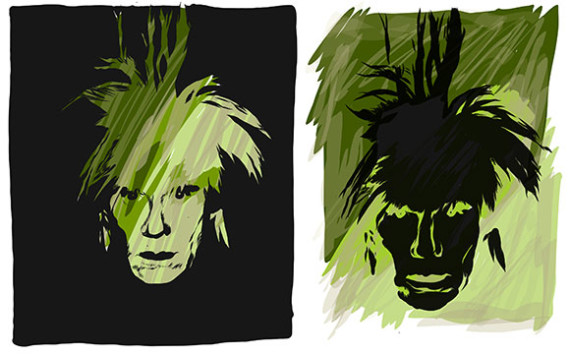 Warhol-Self-Portrait-Sketches