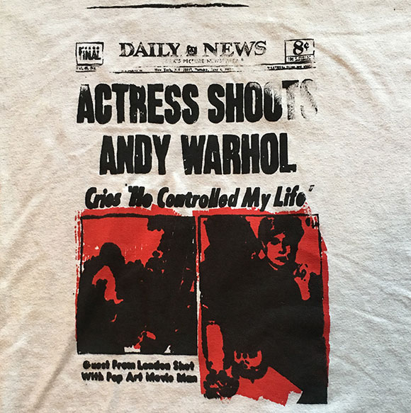 Actress-Shoots-Andy-Warhol-T-Shirt